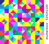seamless pattern with geometric ... | Shutterstock .eps vector #524241100