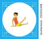 man doing exercises 3 | Shutterstock .eps vector #524241448