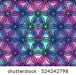 seamless pattern with triangles.... | Shutterstock .eps vector #524242798