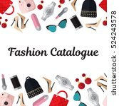 fashion catalogue title... | Shutterstock .eps vector #524243578