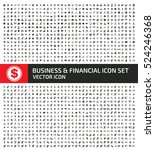 Business and finance icon set,clean vector | Shutterstock vector #524246368
