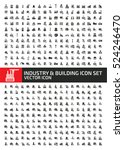 industry and building icon set...