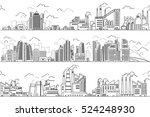 industrial landscape and hand... | Shutterstock .eps vector #524248930