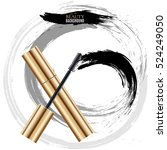 woman cosmetic brush smears.... | Shutterstock .eps vector #524249050