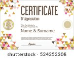 certificate template abstract... | Shutterstock .eps vector #524252308