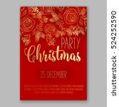 christmas party invitation with ... | Shutterstock .eps vector #524252590