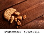 homemade chocolate cookies on... | Shutterstock . vector #524253118