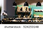 modern design of bakery counter ... | Shutterstock . vector #524253148