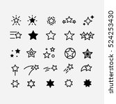 Star icon. Sky, Xmas, favorite and night icons set. Star of David vector. Shining star. Five star