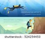 extreme sports 2 flat... | Shutterstock .eps vector #524254453