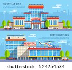 modern many storeyed hospital... | Shutterstock .eps vector #524254534