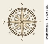 isolated nautical compass... | Shutterstock .eps vector #524256103