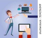 businessman manager marketing... | Shutterstock .eps vector #524256349