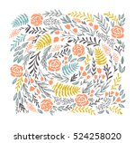 vector floral background  in...