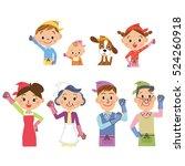 three generation family ... | Shutterstock .eps vector #524260918