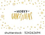 pretty merry christmas card... | Shutterstock .eps vector #524262694