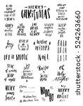 merry christmas  2017.... | Shutterstock .eps vector #524263660