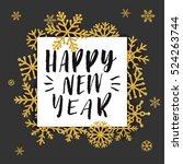 elegant merry christmas... | Shutterstock .eps vector #524263744