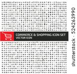 commerce and shopping icon set... | Shutterstock .eps vector #524263990