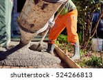 concrete pouring during... | Shutterstock . vector #524266813