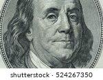 dollars closeup. benjamin... | Shutterstock . vector #524267350