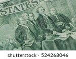 signing declaration of... | Shutterstock . vector #524268046