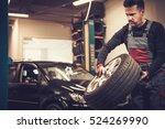 professional car  mechanic... | Shutterstock . vector #524269990