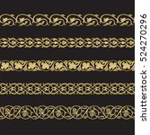 seamless floral tiling borders. ... | Shutterstock .eps vector #524270296