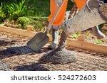 worker screeding cement floor... | Shutterstock . vector #524272603
