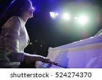 the woman with the white piano | Shutterstock . vector #524274370