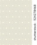 seamless hexagon pattern. thin... | Shutterstock .eps vector #524278468