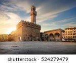 square of signoria in florence... | Shutterstock . vector #524279479