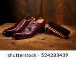 still life with men's leather... | Shutterstock . vector #524283439
