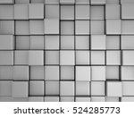 Orange Cube Blocks Wall...