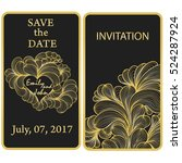 wedding invitation card with... | Shutterstock .eps vector #524287924