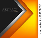 orange triangle vector... | Shutterstock .eps vector #524288350