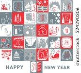 christmas calendar and poster....   Shutterstock .eps vector #524290306