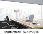 close up of a massive ceo table ... | Shutterstock . vector #524290348