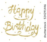 greeting card for birthday.... | Shutterstock .eps vector #524291446