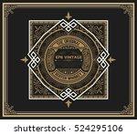 art deco whiskey card | Shutterstock .eps vector #524295106