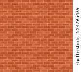 seamless brown brick wall... | Shutterstock .eps vector #524295469