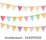 different colorful bunting for... | Shutterstock .eps vector #524295520