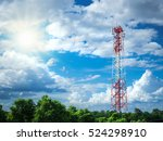 Radio Tower With Nature