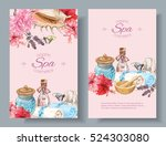 vector spa treatment... | Shutterstock .eps vector #524303080