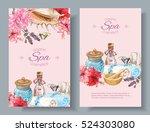 vector spa treatment... | Shutterstock .eps vector #524303080