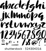 hand drawn font made by dry... | Shutterstock .eps vector #524304316