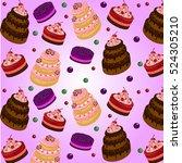 sweet cakes | Shutterstock . vector #524305210