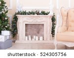 White Fireplace In Light Room...