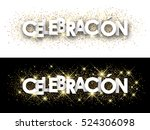 celebration paper banner with... | Shutterstock .eps vector #524306098