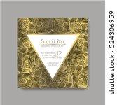 shiny wedding card. invitation...   Shutterstock .eps vector #524306959